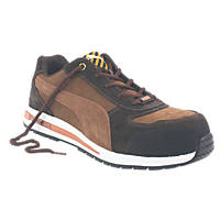 Puma Barani Low Safety Trainers Brown Size 7