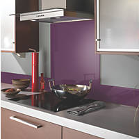 Impact Glass Aubergine Self-Adhesive Toughened Glass Splashback 600 x 750 x 6mm