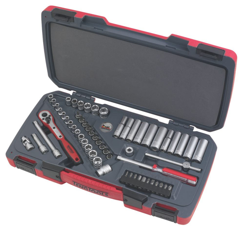 "Teng Tools ¼"" Deep & Standard Socket Set 60Pcs"
