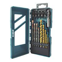 Erbauer Combination Drill & Screwdriver Bit Set 15 Piece Set