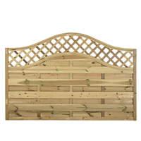 Forest Prague Wave-Top Lattice Fence Panels 1.8 x 1.2m 6 Pack