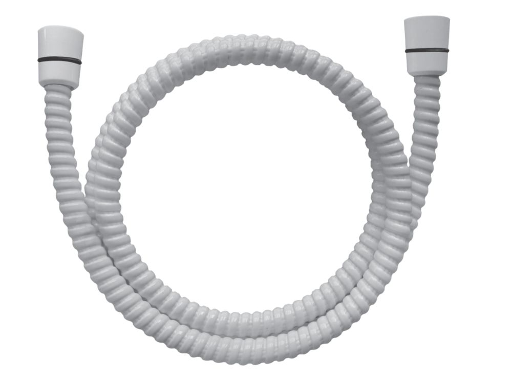 Swirl Shower Hose PVC White 1.5m x 11mm