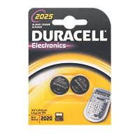 Duracell 2025 Li-Ion Coin Cell Batteries Pack of 2