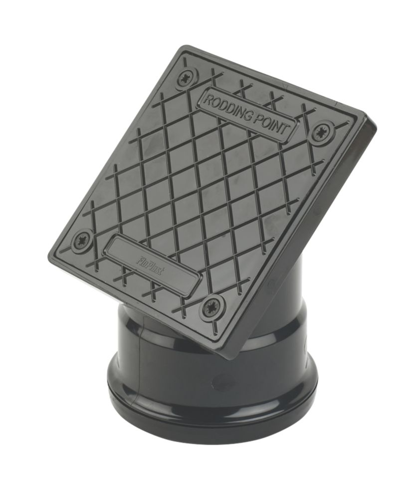 FloPlast D884 PVC Square Rodding Point (Socketed) 110mm Black