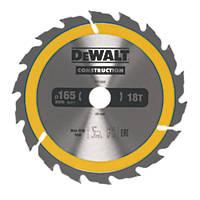DeWalt Circular Saw Blade 165 x 20mm 18T