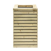 Grange Square Tall Wooden Planter Green 400 x 400 x 780mm 2 Pack