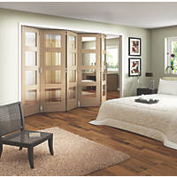 Jeld-Wen Shaker 4-Panel Interior Room Divider Oak Veneer 2052 x 3163mm