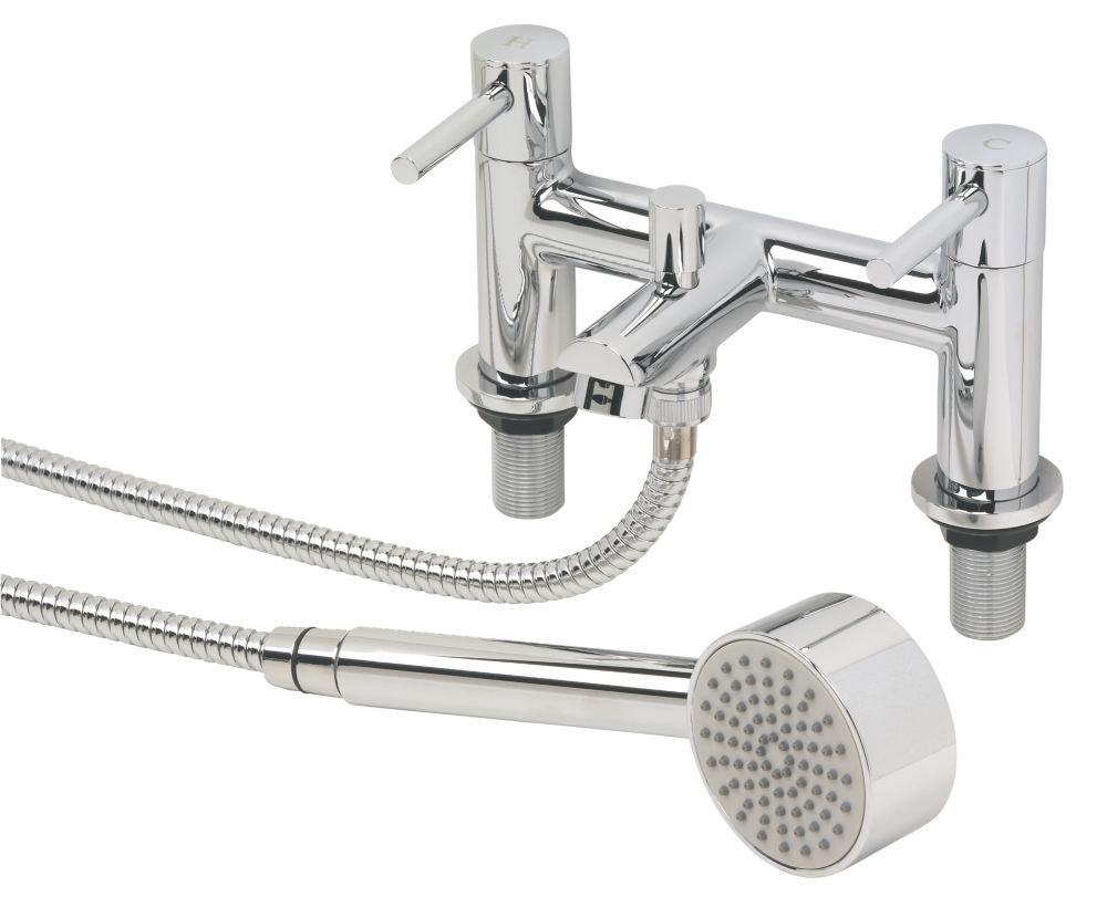 Swirl Essential Dual Lever Bath / Shower Mixer Bathroom Tap