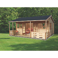 Sherwood Log Cabin Assembly Included 5.9 x 5.3m