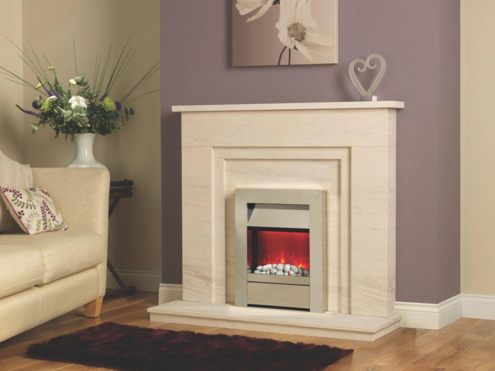 Be Modern Iris Limestone Fire Surround