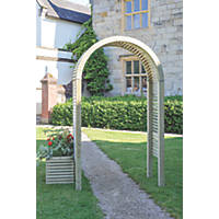 Grange Contemporary Garden Arch Green 1.5 x 0.6 x 2.6m