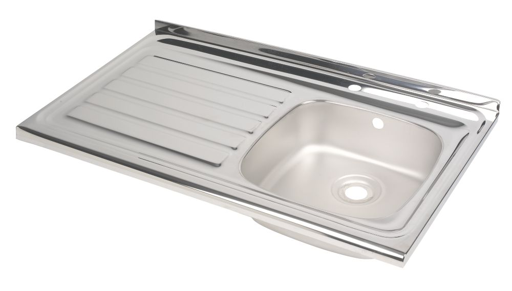 Astracast Sit On Stainless Steel 1 Bowl Kitchen Sink with Drainer L Hand