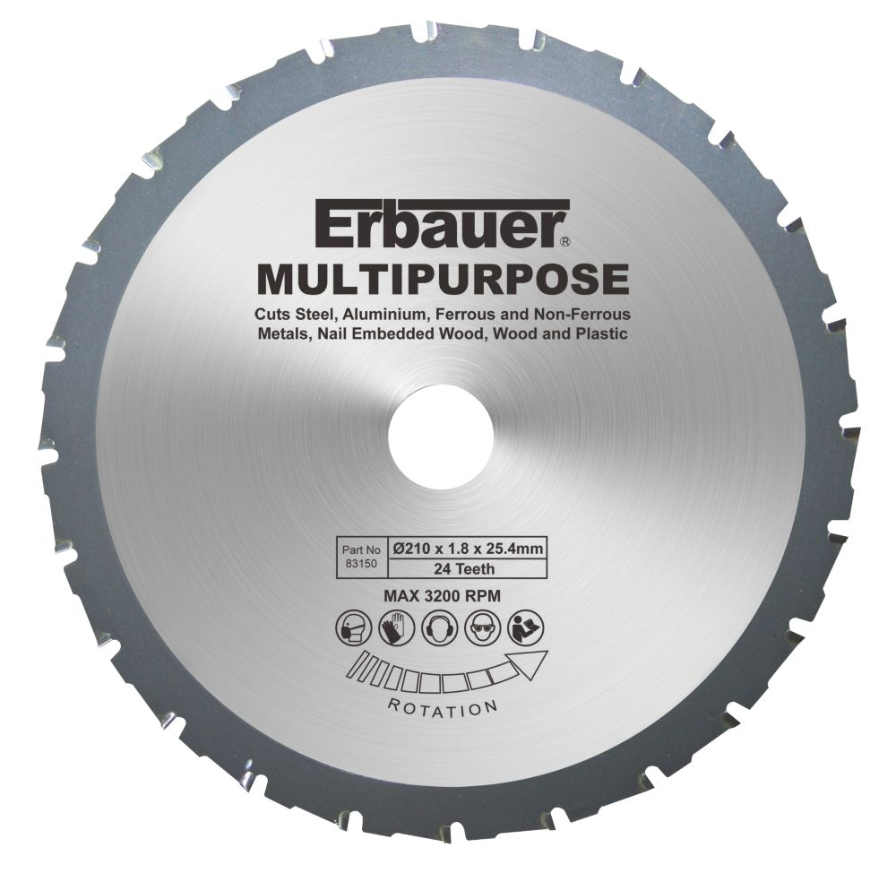 Erbauer Multipurpose Saw Blade 28-Tooth 210mm