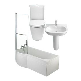 St Ives Shower Bath Suite LH by Unbranded