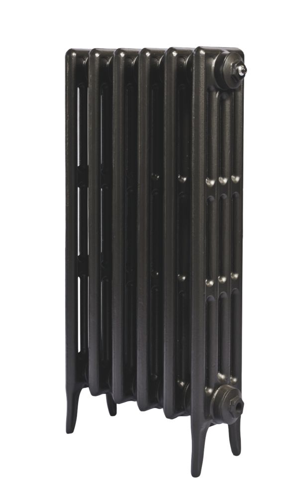 Cast Iron 760 Designer Radiator 4-Column Anthracite H: 760 x W: 645mm