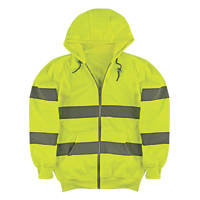 "Portwest  Hi-Vis Zip Front Hoody Yellow Medium 46"" Chest"