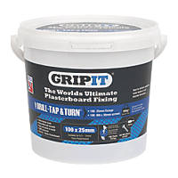GripIt Blue Plasterboard Fixings 25 x 20mm 100 Pack