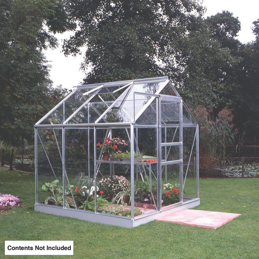 "Halls Popular Framed Greenhouse Aluminium 6'3"" x 6'3"" x 6'6"""