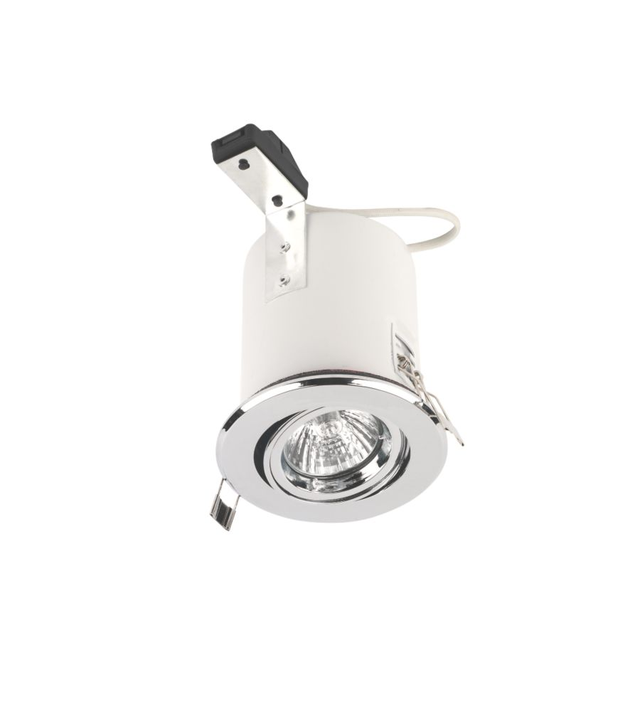 Lytlec Adjustable Round Chrome 12V Low Voltage Fire Rated Downlight
