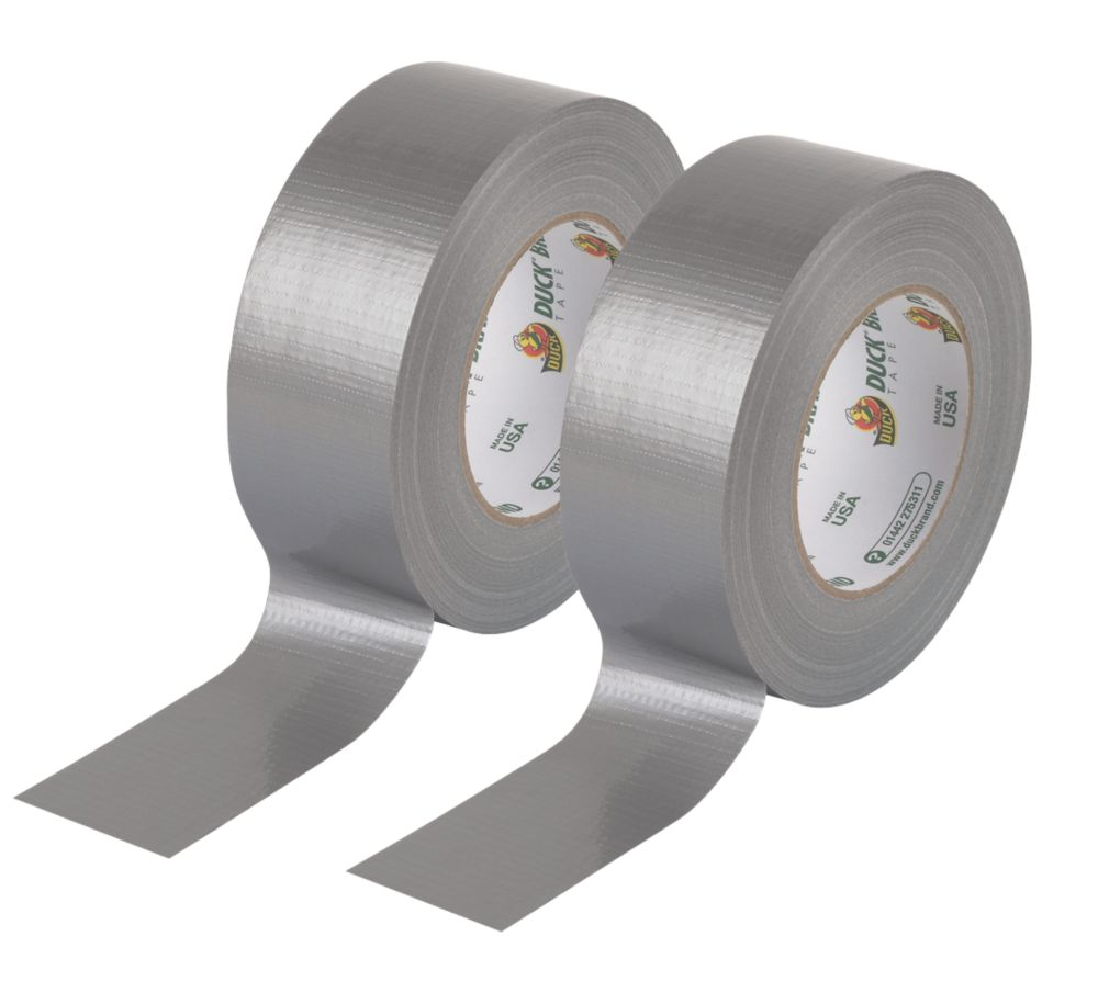 Duck Original Cloth Tape Silver 50mm x 50m Pack of 2