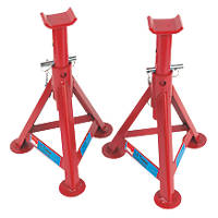 Hilka Pro-Craft 3kg Fixed Axle Stands Pair 2 Pack