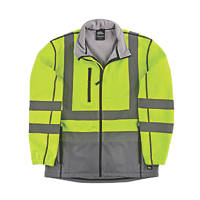 "Hyena Hi-Vis 2-Tone Soft Shell Jacket Yellow/Grey X Large 51"" Chest"