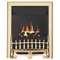 Focal Point Blenheim Brass Rotary Control Inset Gas High Efficiency Fire