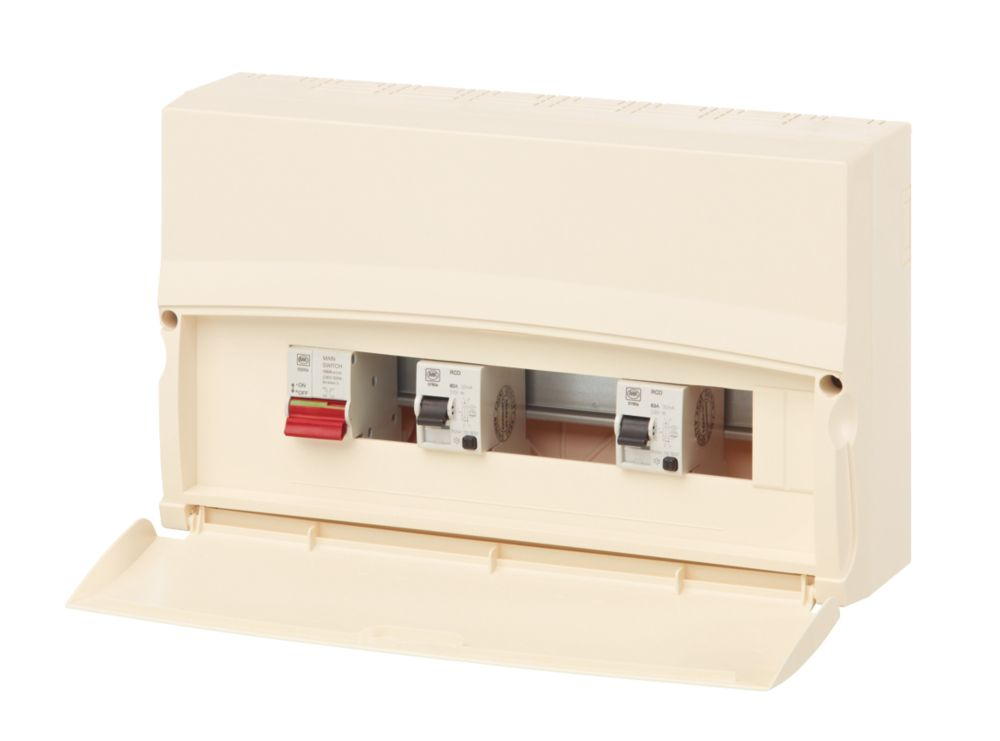 MK Sentry 17th Ed. 10-Way Split Load 63A & 80A RCD