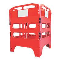 Melba Swintex  4-Part Utility Pedestrian Barrier Red