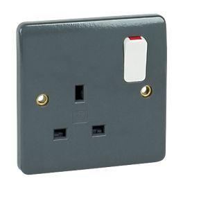 MK Double Pole Switch Socket 13A 1G Wide Rocker