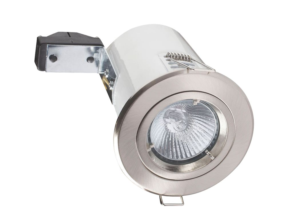 Robus RF101-13 Fixed Round Low Voltage Fire Rated Downlight Brsh Chr 12V