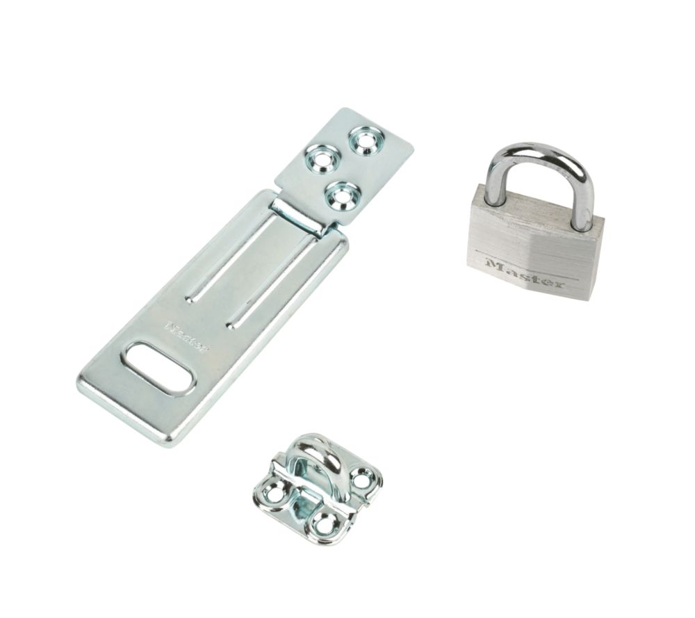 Masterlock Hasp & Staple with Padlock 90mm