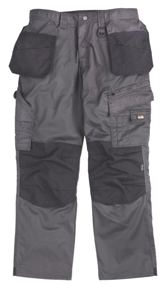"""Scruffs Max Utility Graphite Trousers 36""""W 32""""L"""