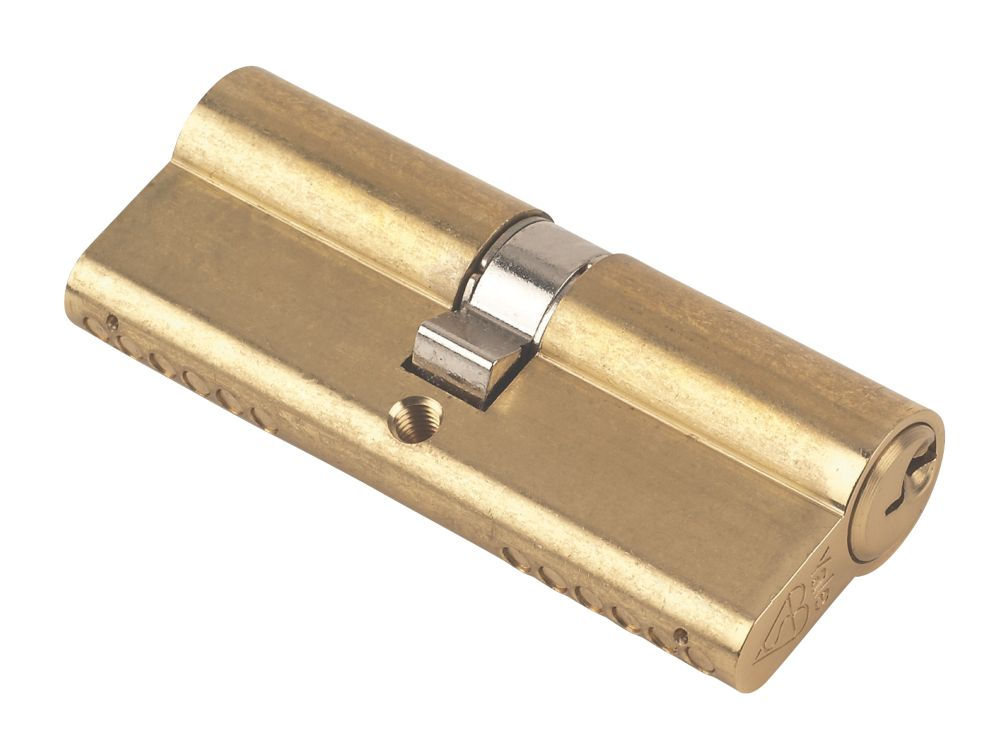 Yale KM Series Euro Double Cylinder Lock 40-40 (80mm) Polished Brass