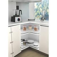 Hafele Revolving Storage Tray Unit Silver/White