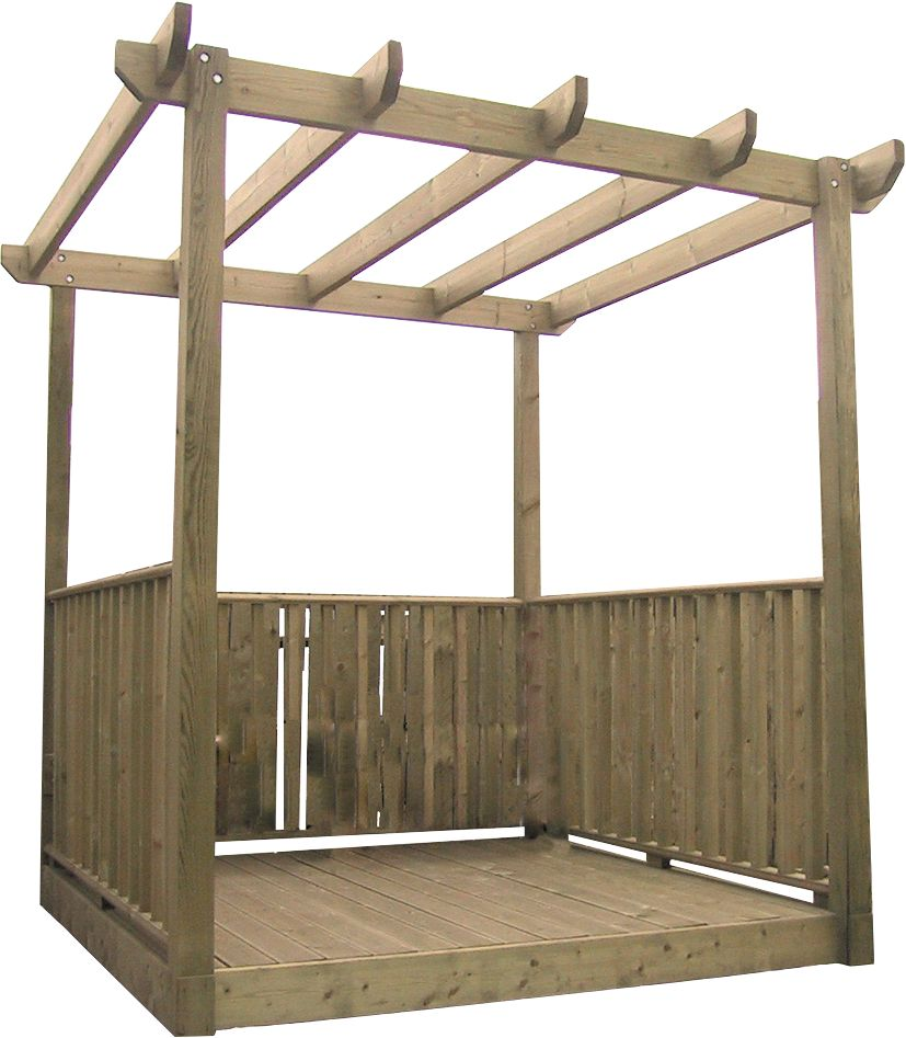Single Deck, Pergola & Balustrade Kit 2.4 x 2.4 x 2.4m