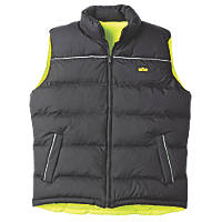 "Site  Reversible Hi-Vis Bodywarmer Yellow/Black Medium 39"" Chest"