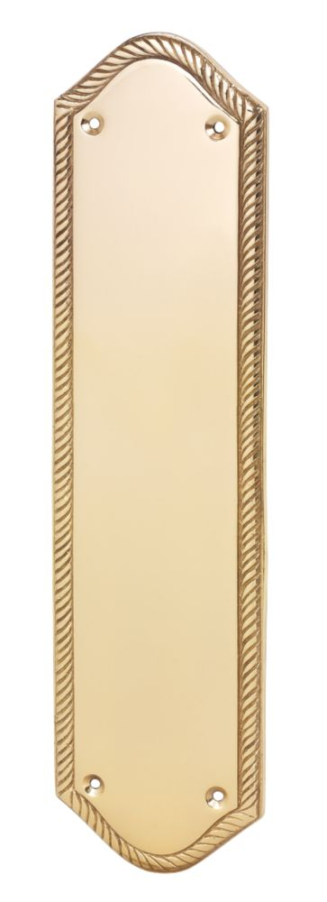 Georgian Finger Plate Polished Brass