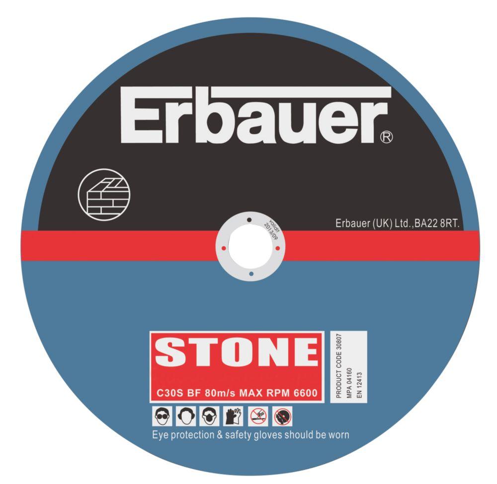 Erbauer Stone Cutting Discs 125 x 2.5 x 22mm Pack of 5