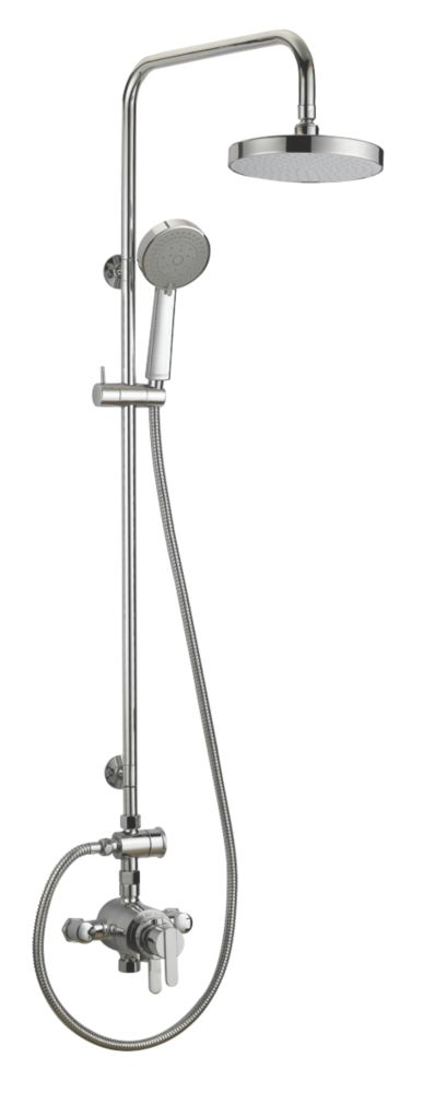 Moretti Avanti Thermostatic Concentric Mixer Shower with Diverter Chrome