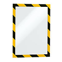 Durable Magnetic Security Frame Yellow / Black 327 x 250mm 5 Pack