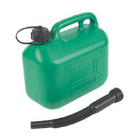 Hilka Pro-Craft Plastic Petrol Can Green 5Ltr