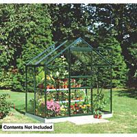 """Halls Popular Framed Greenhouse Green 6 ' 3"""" x 4 ' 3"""""""