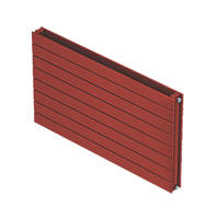 Moretti Modena Horizontal Double-Panel Designer Radiator Red 578 x 800mm