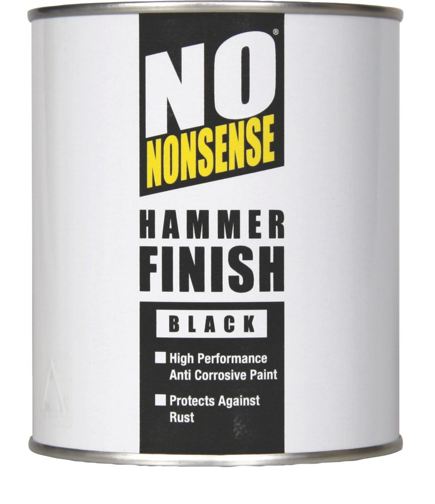 No Nonsense Hammer Finish Paint Hammered Black 750ml