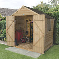 Forest 7' x 5' (Nominal) Apex Overlap Timber Shed with Base