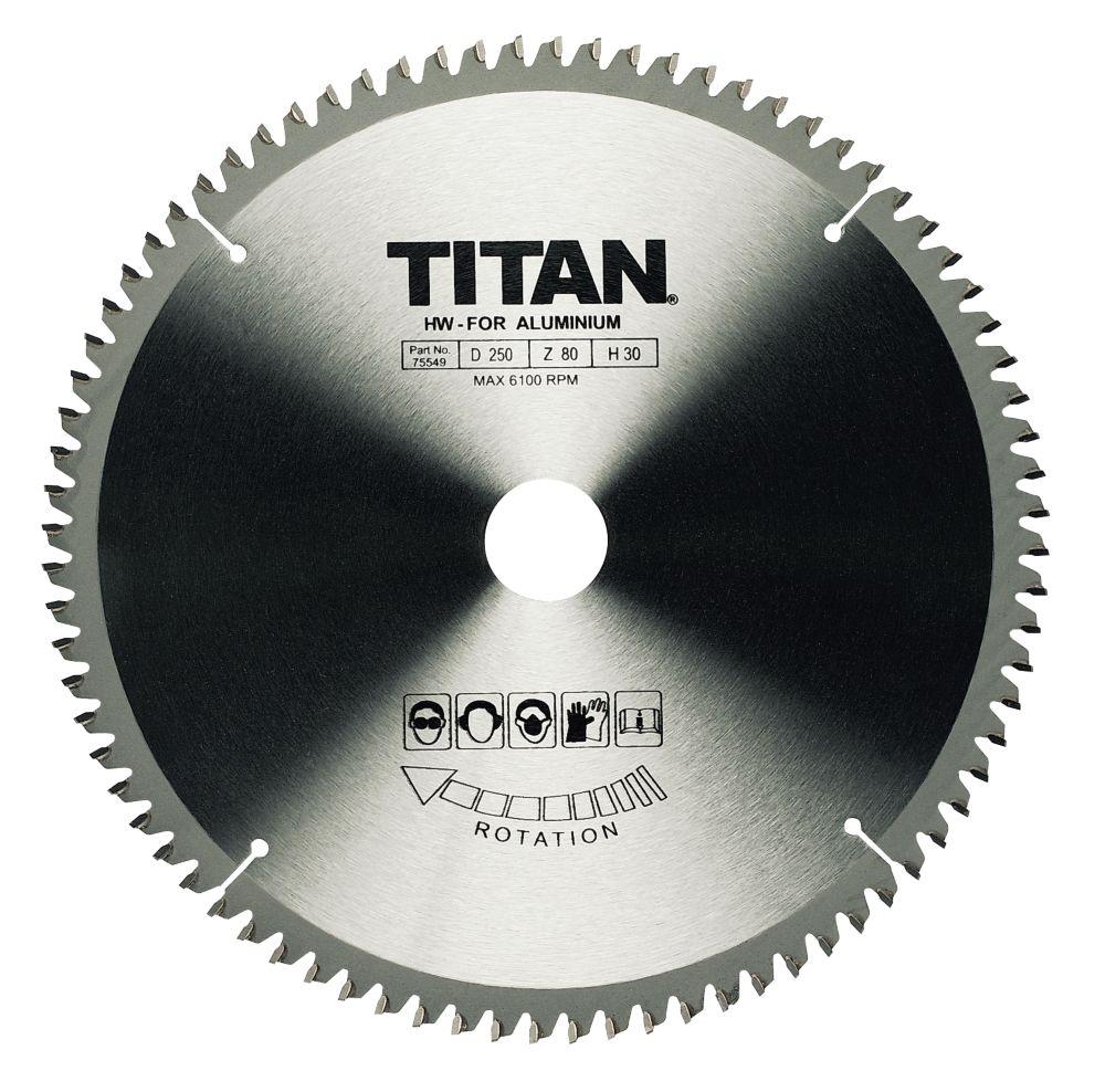 Titan TCT Circular Saw Blade 80T 216x20/25/30mm