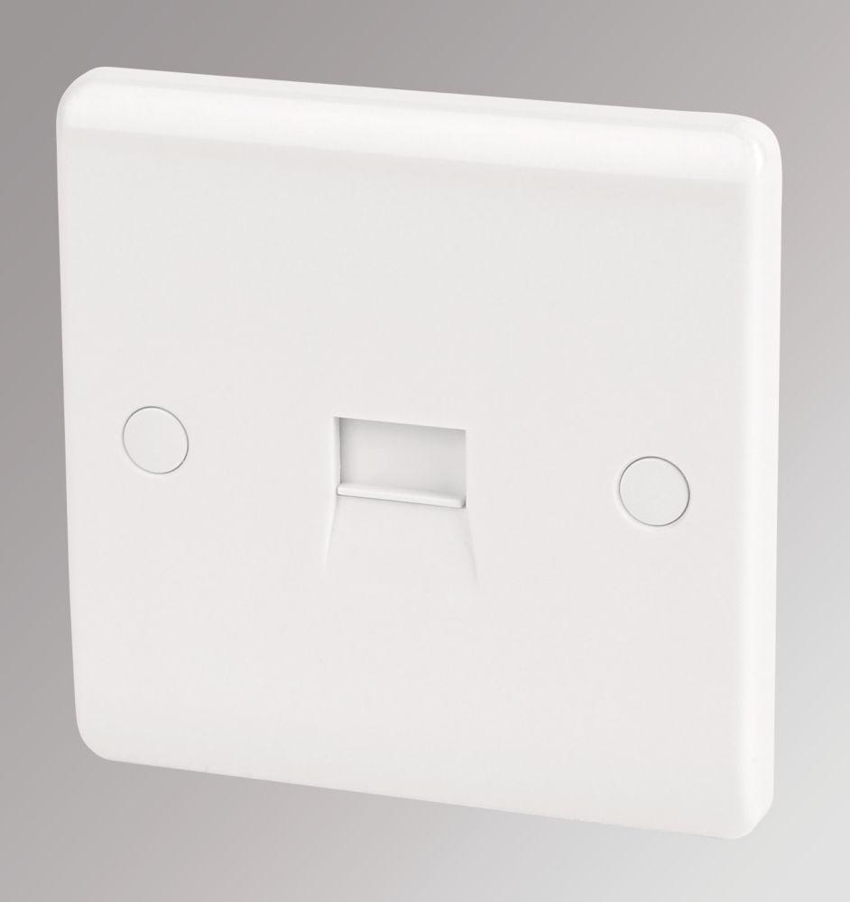 LAP 1-Gang Slave Telephone Socket White