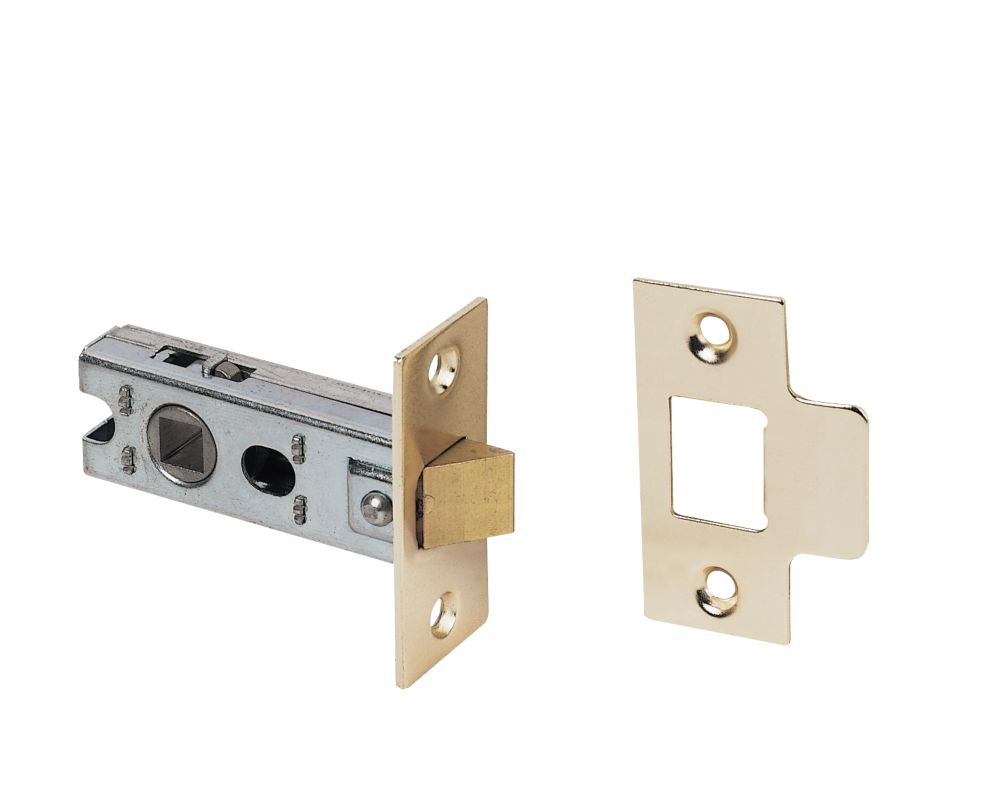 Tubular Sprung Latch Electro Brass 63mm