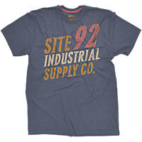 "Site Industrial T-Shirt Blue Medium 40"" Chest"
